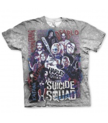 Suicide Squad T-Shirt: Team (allover)
