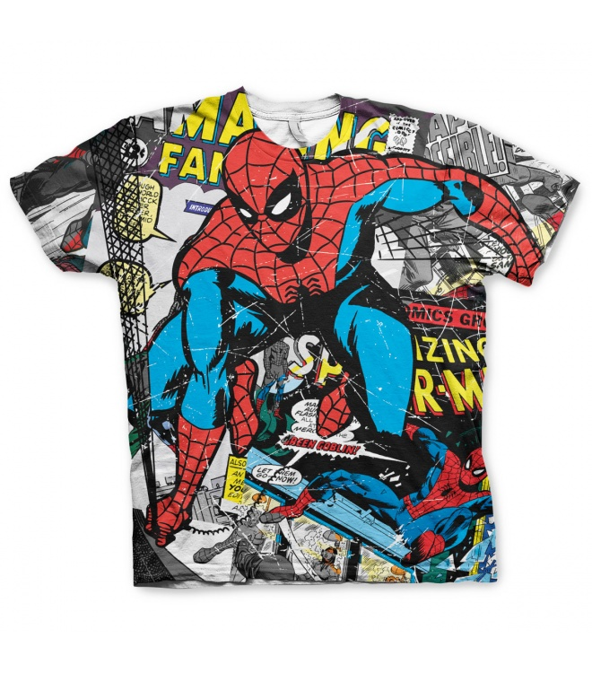 Marvel Classic T-Shirt: Spider-Man (allover)