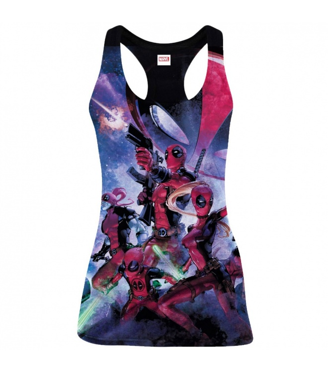 Deadpool Tank Top (Damen): Deadpool Family (schwarz)