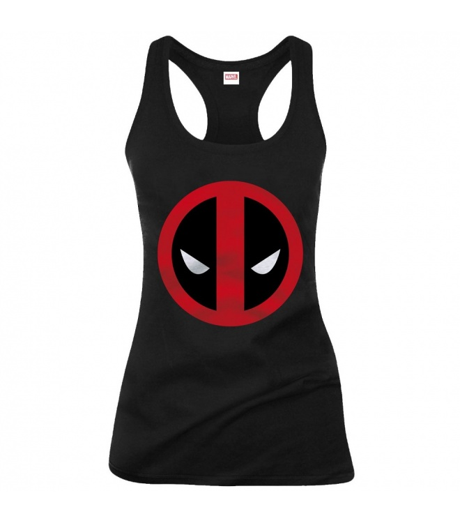 Deadpool Tank Top (Damen): zweites Motiv (schwarz)