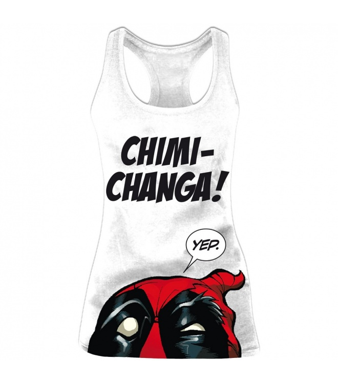 Deadpool Tank Top (Damen): viertes Motiv (weiß)