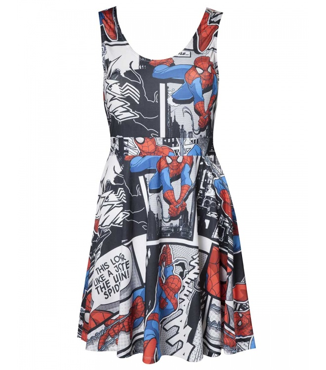 Spider-Man Kleid (Damen): Spider-Man Dress (schwarz)