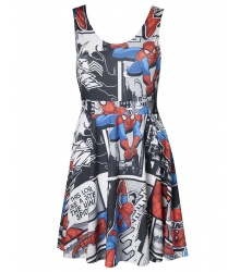 Spider-Man Kleid (Damen): Spider-Man Dress (schwarz) M